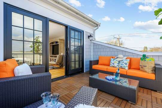 Sit back and relax on your very own roof top terrace! Unit 201 557 Route 28 Harwich Port, Cape Cod, New England Vacation Rentals