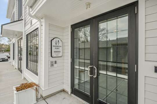 Side entrance to unit 203,557 Route 28 Harwich Port Cape Cod New England Vacation Rentals