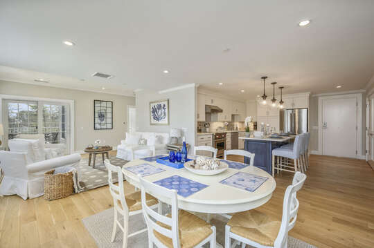 Luxurious open concept living, kitchen, dining room, Unit 203, 557 Route 28, Harwich Port, Cape Cod, New England Vacation Rentals