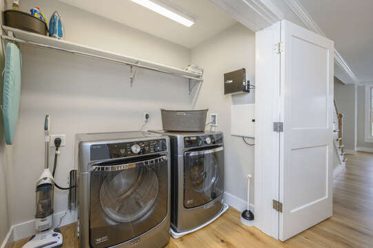 Laundry room is located across from kitchen. Unit 203, 557 Route 28, Harwich Port, Cape Cod, New England Vacation Rentals