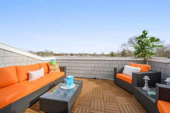 Roof top terrace overlooking Harwich Port. Unit 203 557 Route 28 Harwich Port, Cape Cod, New England Vacation Rentals