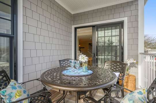 Private outdoor balcony. Unit 203, 557 Route 28, Harwich Port, Cape Cod, New England Vacation Rentals