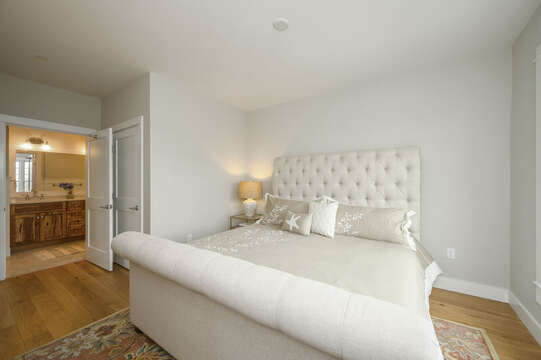 Bedroom 1, Plush king size bed with en suite bathroom and closet.Unit 204, 557 Route 28, Harwich Port, Cape Cod, New England Vacation Rentals