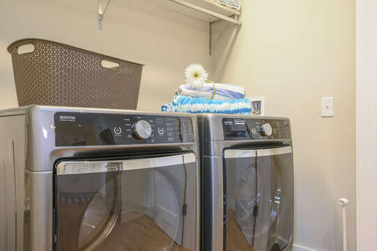 Separate Laundry area located behind the double doors off the kitchen.Unit 204, 557 Route 28, Harwich Port, Cape Cod, New England Vacation Rentals