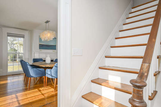 Entry and stairs to upper level. 530 Route 28 Harwich Port, Cape Cod, New England Vacation Rentals
