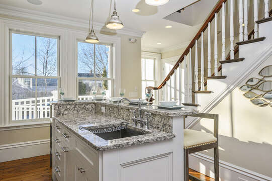 Tiered Island with sink and seating for 5 525 Route 28, Harwich Port, Cape Cod, New England Vacation Rentals