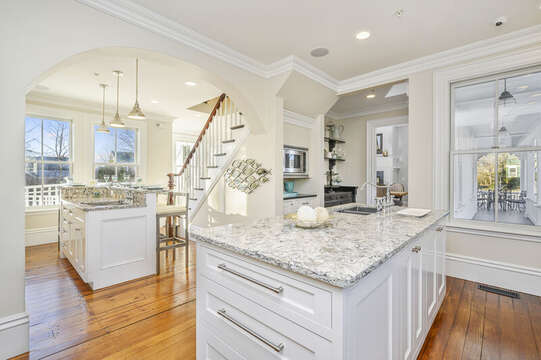 This expansive chefs kitchen invites you to create gourmet meals for your family. 525 Route 28, Harwich Port, Cape Cod, New England Vacation Rentals