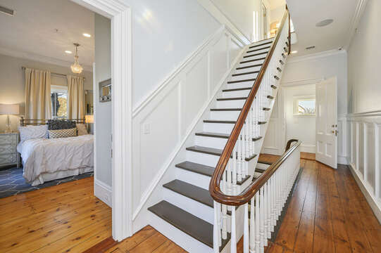 Stair way from the second floor to the third floor. 525 Route 28, Harwich Port, Cape Cod, New England Vacation Rentals