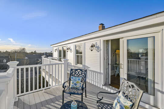 3rd Floor balcony with water views! 525 Route 28, Harwich Port, Cape Cod, New England Vacation Rentals