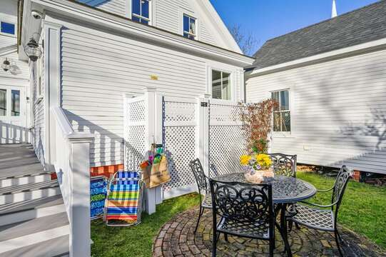 Back patio and gas grill! 525 Route 28, Harwich Port, Cape Cod, New England Vacation Rentals