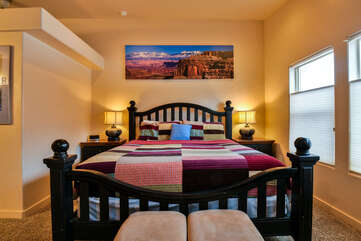 Master Bedroom with king bed and bench