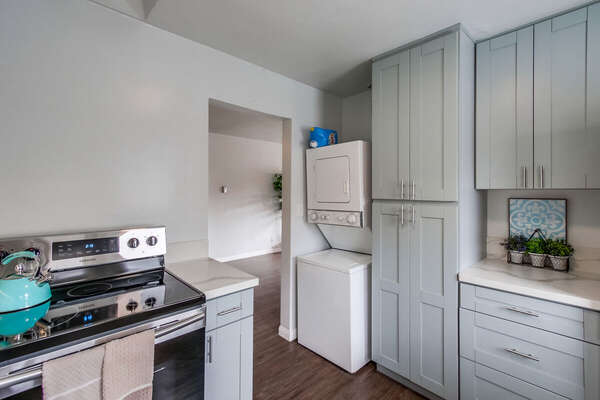 Washer and Dryer are Located in Kitchen.
