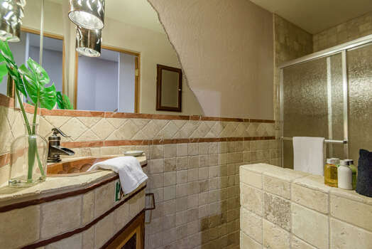 Lower Level Full Shared Bath with a Shower