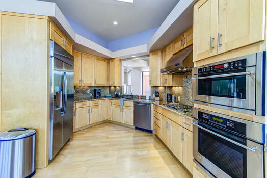 Fully Equipped Kitchen with Stainless Appliances, Stone Countertops and All Utensils Needed for the Chef in the Group