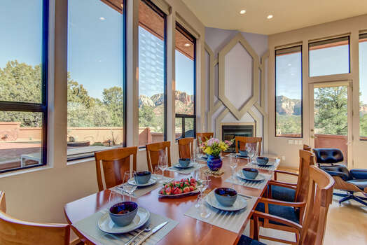 Dining Area with Seating for Eight Surrounding by Wonderful Views
