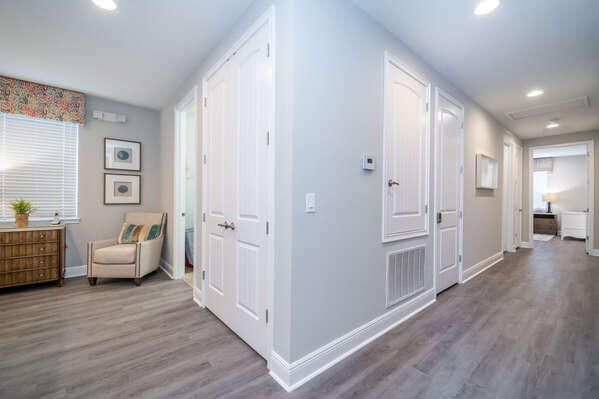 upstairs hallway showing loft and master bedroom #2