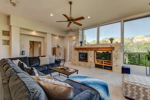Spacious and Comfortable Living Room with Spectacular Views