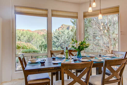 Dining Area with Seating for Six in a Peaceful Setting