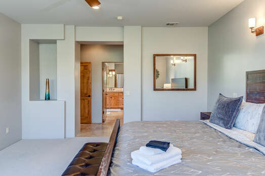 Master Bedroom with a King Bed and Private Master Bath