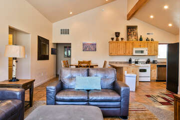 Living room that opens into kitchen