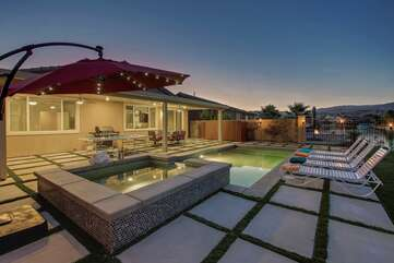 The huge backyard has plenty of room for your occasion