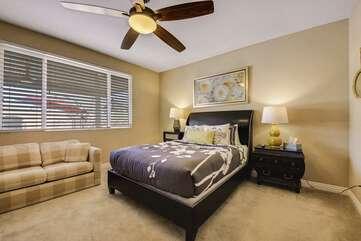Master Bedroom has Queen size bed and queen sofa sleeper to sleep 4