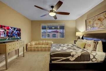 Master bedroom has a 50