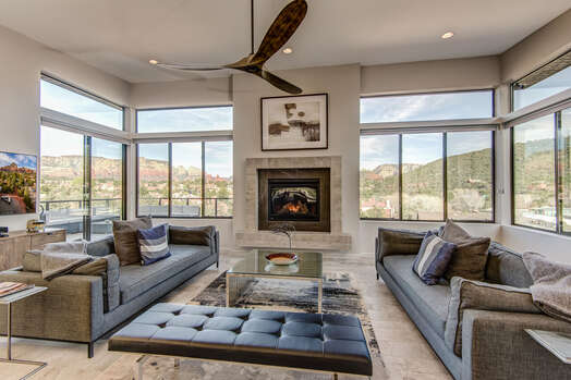Or Be Surrounded by the Sedona Scenery From the Many Windows