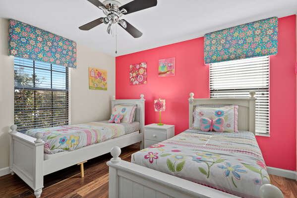 Your little ones will love the details of this spring themed room