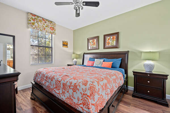 Sleep peacefully in this king bed