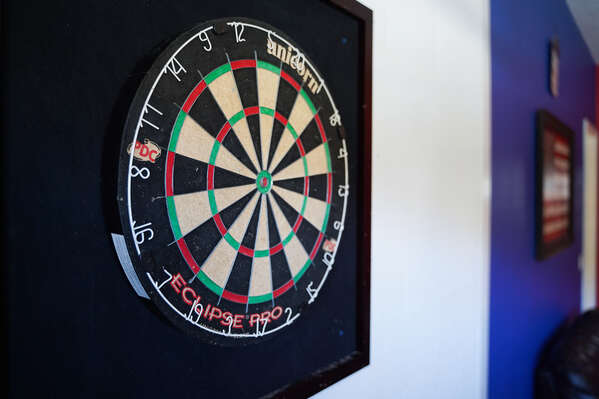 Practice your aim with a game of darts