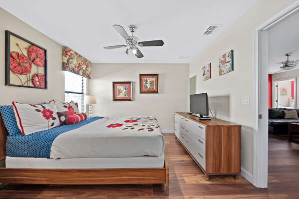 Take a nap in this upstairs bedroom