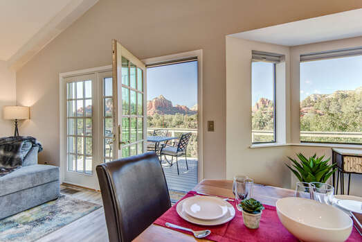 Step out onto the Back Deck for Fresh Air and Breathtaking Views!