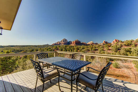 Expansive Back Deck with Panoramic Red Rock Views