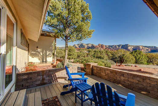 Relax and Escape with the Patio and Views off of the Master Bedroom