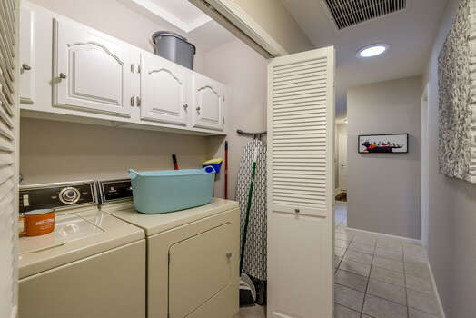 Full-Size Washer and Dryer in Hallway Closet