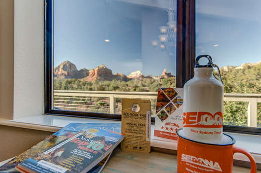 Red Rock Parking Pass and Reference Materials to Use During your Stay, But the Swag is Yours