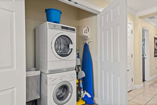 Access to washer and dryer