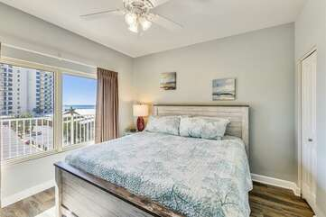 Master bedroom with King bed and gorgeous view of the Gulf