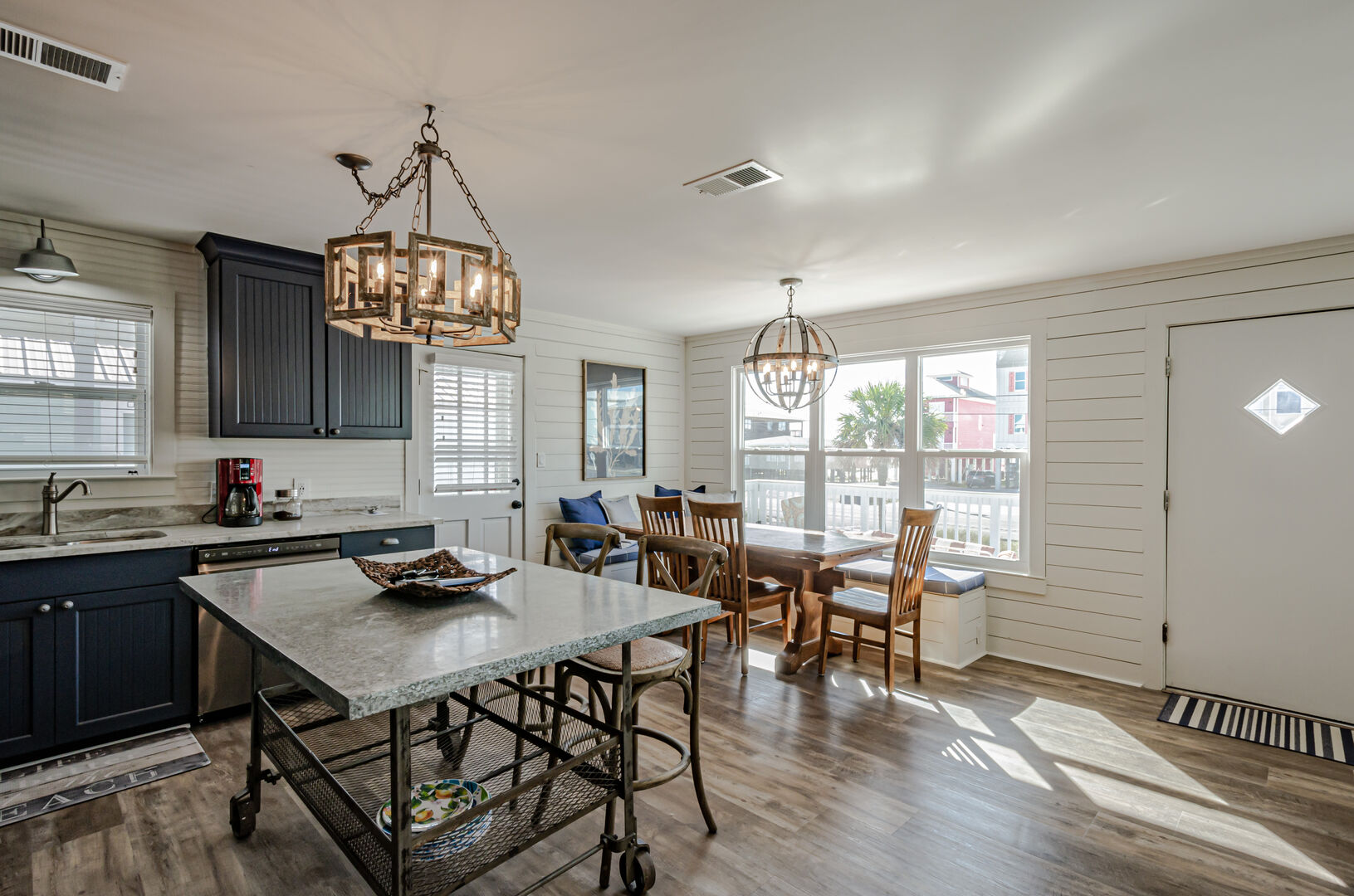 Enjoy dinner with a view from the kitchen of this Gulf Shores Beach House Rental.