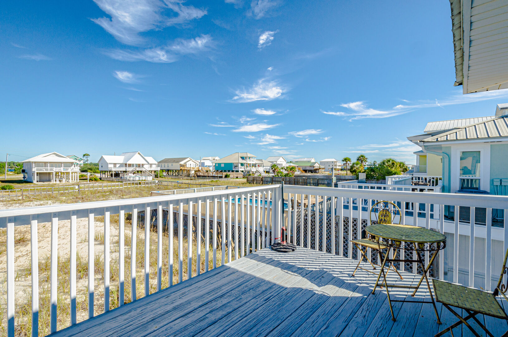 Porch of this Gulf Shores Beach House Rental.