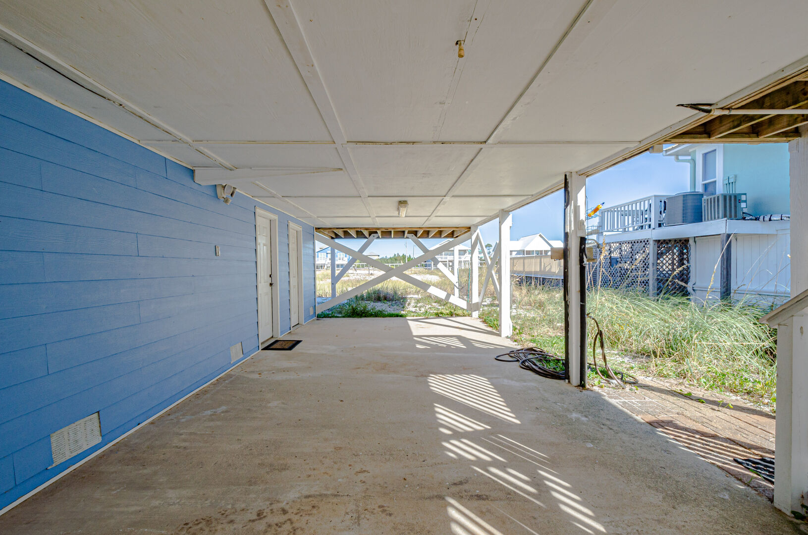 Shaded area under this Gulf Shores Beach House Rental.