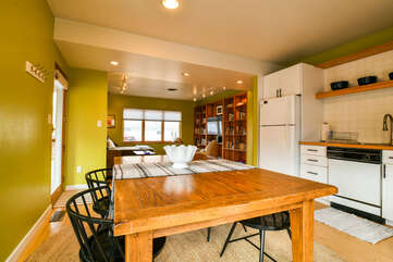 Spacious Dining Room and Kitchen Area in our Lodging in Moab Utah