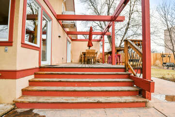Hazel Patio and Outdoor Seating Lodging in Moab Utah