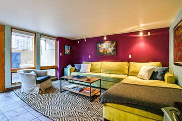 Violet Cottage Rental Living Room Area