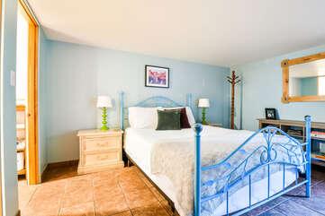 Bed and Bedroom inside our Lovely Violet Cottage