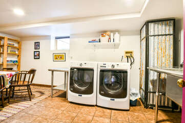 Washer and Dryer Unit in Violet Cottage