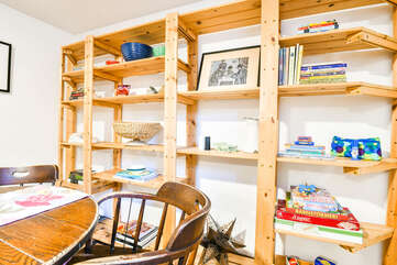 Dining Room Table and Shelving in Violet Cottage