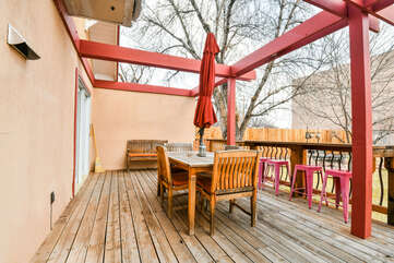 Patio and Outdoor Dining Area- Hazel