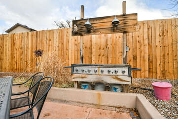 Huge Outdoor Grill Accompanying our Moab Utah Rental